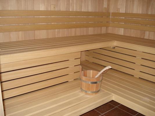 In der Sauna ist es gemütlich