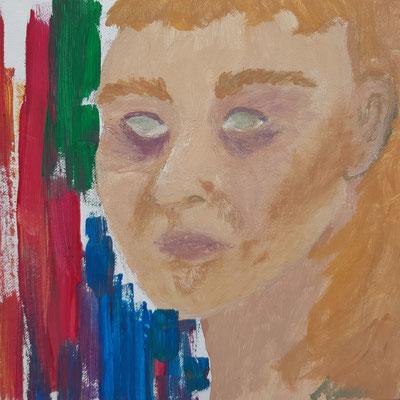 Marlene Nigischer, 17 Jahre, Gouachebild, Frauenporträt