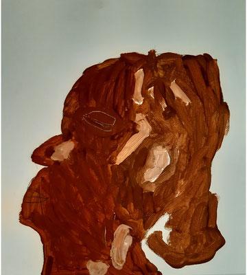 Sinziana Babaca, 6 Jahre , Gouachebild, nach einer Bronzeskulptur-Abbildung von E. Degas