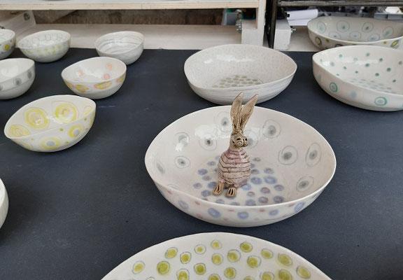 Porzellanschalen von Angelika Gross