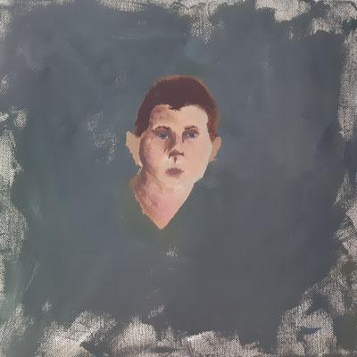 David Steinböck, 17 Jahre , Gouachemalerei, Porträt