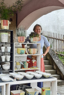 Angelika Gross zeigte ihre Keramik