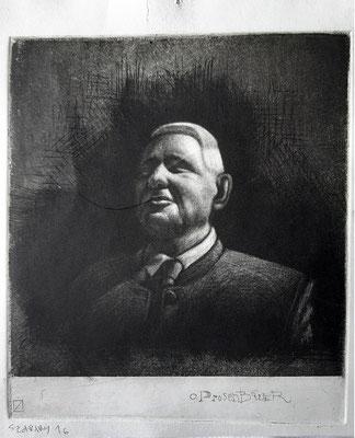 Louis Szapary, 26 Jahre,Druckgrafik, Porträt Hr. Prosenbauer