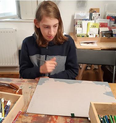 Lukas Innerhofer aus Raabs...bei der Arbeit