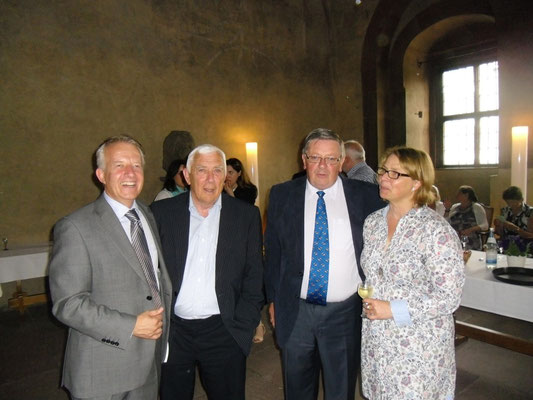 Empfang für die irischen Gäste im Wenzelsaal, 04.07.2013 (John Ryan, Pat Doyle, George Jones, Eva-Maria Barklind-Schwander)