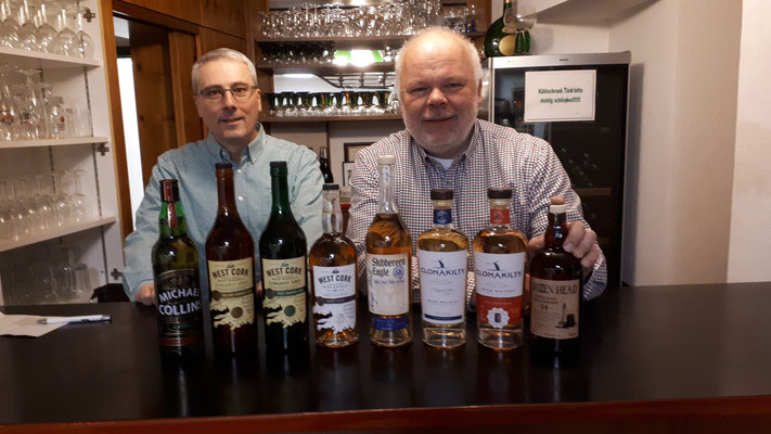 Irische Whiskeyprobe, 22.03.2019