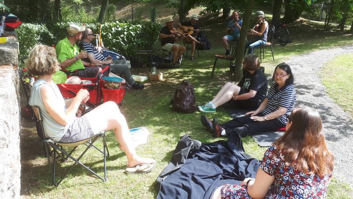 Picknick im Wicklow Garden, 18.07.2020