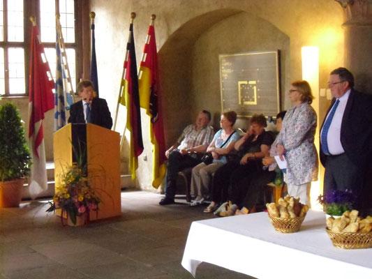 Empfang für die irischen Gäste im Wenzelsaal, 04.07.2013 (OB Georg Rosenthal)