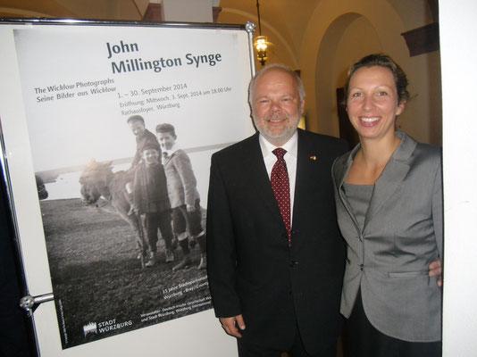 Ausstellungseröffnung J.M. Synge, 03.09.2014 (Matthias und Michaela Fleckenstein)