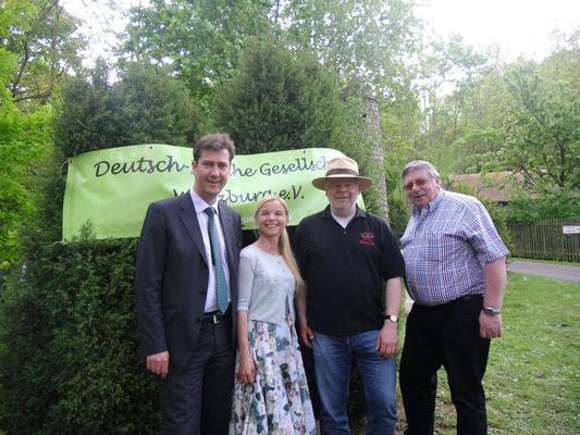 Frühling International, 10.05.2015 (OB Christian Schuchardt, Asa Petersson-Schuchardt, Matthias Fleckenstein, George Jones)