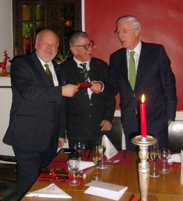 Traditional Irish Christmas Dinner, Bürgerspital, 01.12.2017 (Matthias Fleckenstein, Peter Wiesenegg, Botschafter Michael Collins)
