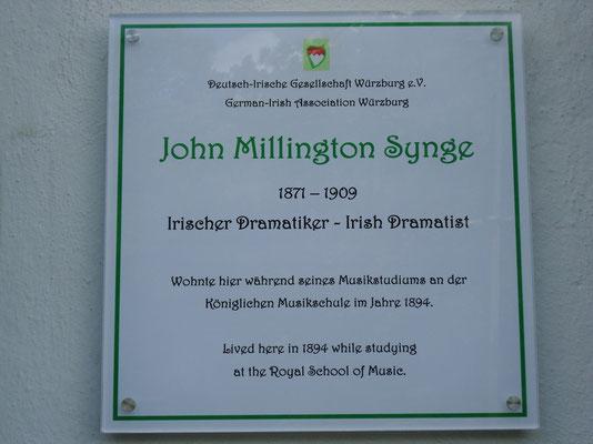 Gedenktafel für John Millington Synge, 24.05.2014