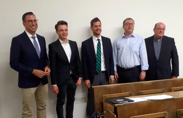 Kiliani Lecture, 28.06.2018 (Prof. Dr. Martin Stuflesser, Andy Theuer, Dr. Andrew Meszaros, Dr. Michael Shortall, Dr. John-Paul Sheridan)
