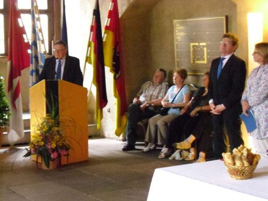 Empfang für die irischen Gäste im Wenzelsaal, 04.07.2013 (George Jones)