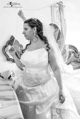 Ankleiden Braut