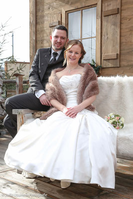 Brautpaar Fotoshootings vor der Eventalm Rümlang