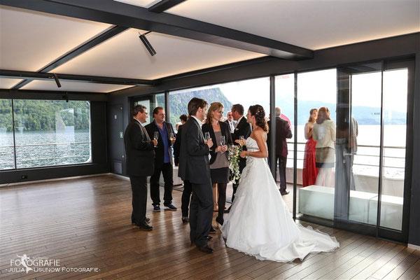 Gästeempfang auf dem Schiff, Vierwaldstättersee