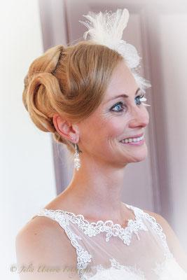 Braut während der Trauung