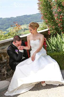 romantisches Brautpaarshooting, Schloss Heidegg