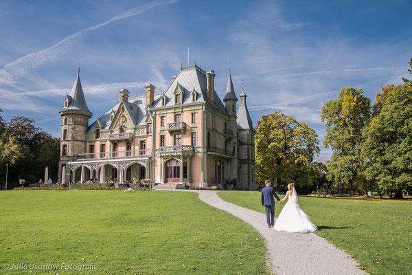Schloss Schadau, Hochzeit im Herbst