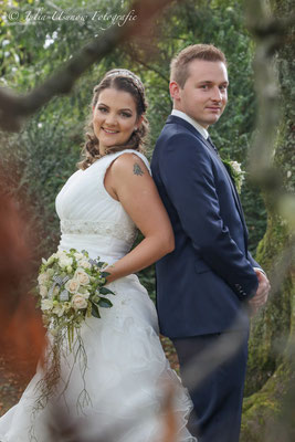 Romantisches Fotoshooting, Brautpaar