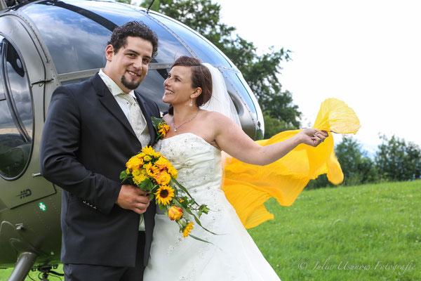 Brautpaar mit Heli