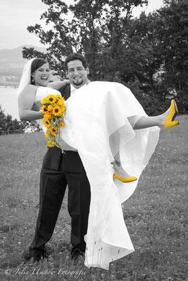 Brautpaarshooting, Sonnenblumen