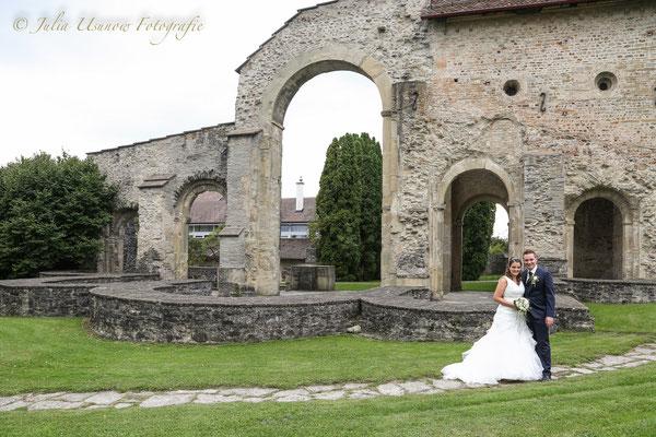 Brautpaarshooting bei den Klosterruinen, Rüeggisberg
