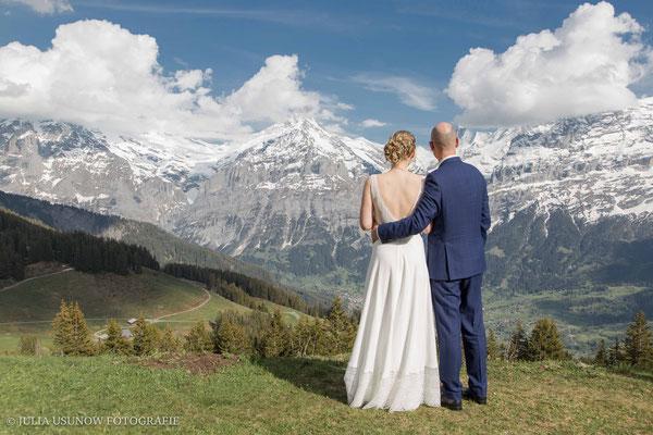 Ausblick oberhalb der Bussalp nach Grindelwald