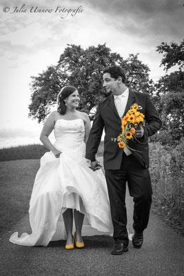 Brautpaarshooting in Gelb