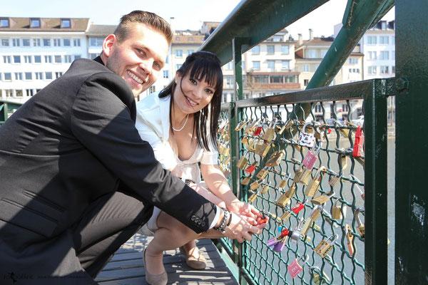 Liebesschloss in Zürich, Brücke