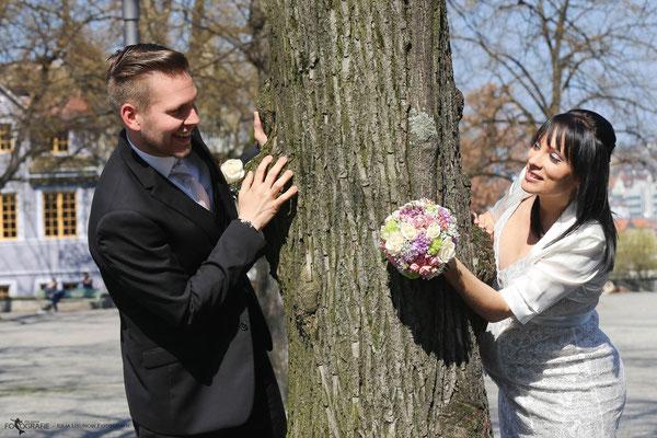 Brautpaar Fotoshooting in der Stadt Zürich