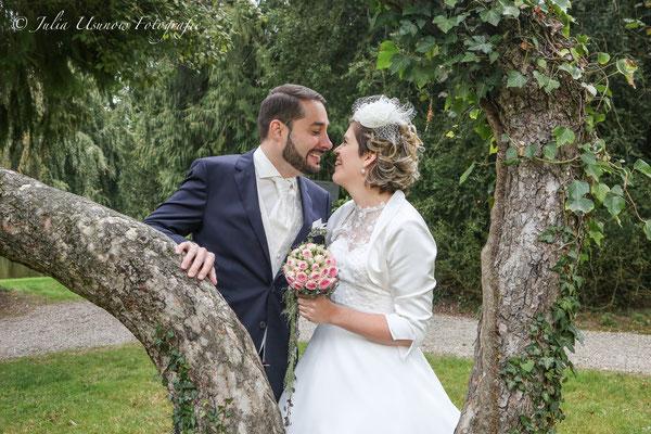 Romantisches Brautpaar shooting