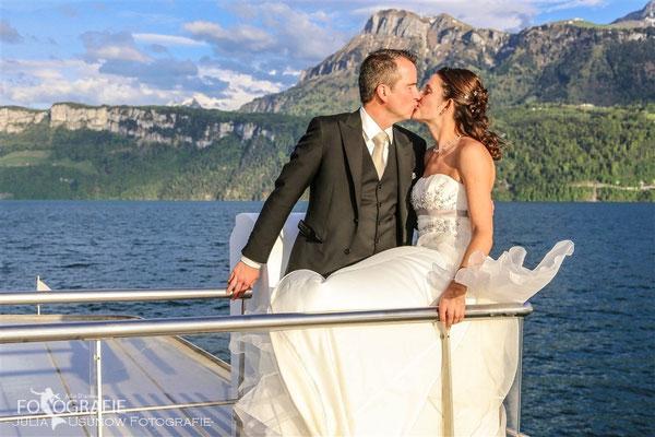 Brautpaarshooting auf dem Schiff
