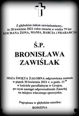 Zawiślak Bronisława