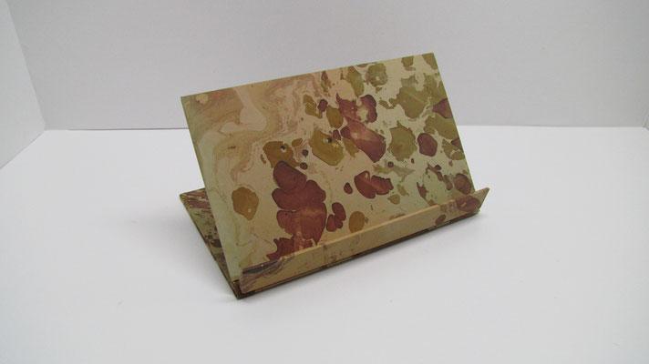 Leggio in carta marmorizzata pieghevole