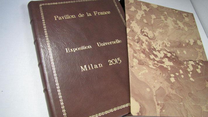 Libro firma realizzato a mano per Expo 2015, padiglione Francia