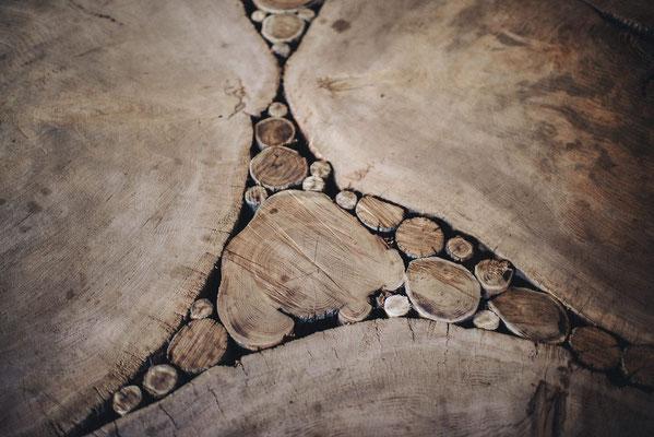 Plancher en bois de bout Bruno Rougé. Photographie www.essencedelavie.com