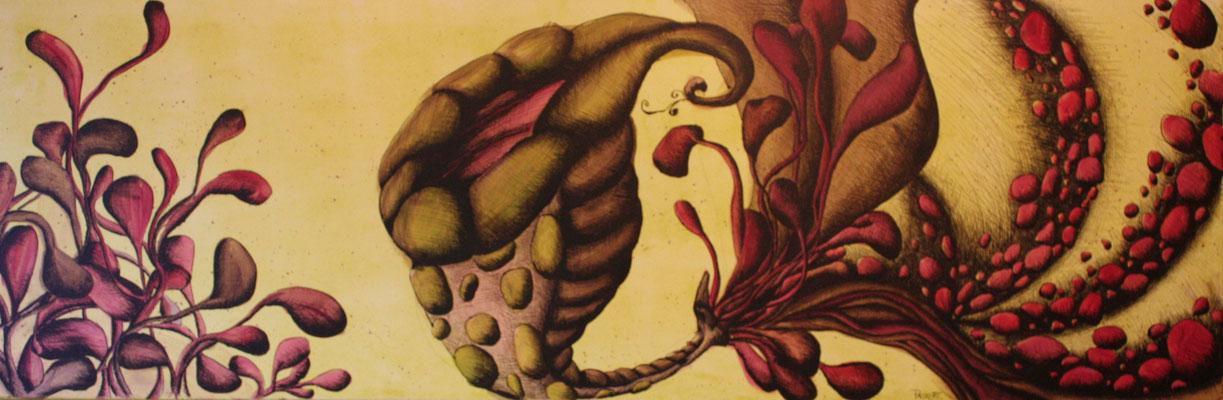Acryl/Tusche, 50cm x 150cm, Kirsten Packert