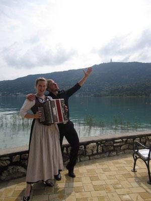 mit Andreas Fröschl (Klavier/Harmonika), Gewinner des 21. Internationalen Brahmswettbewerbs in Pörtschach, 2014