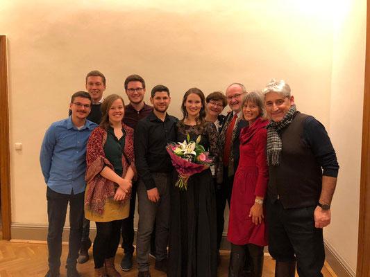 nach meinem Debüt im Musikverein mit meiner Familie, Dezember 2019