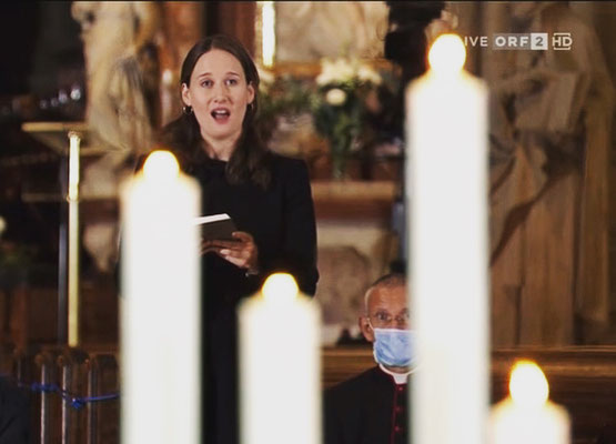 live-Übertragung auf ORF2 vom Gedenkgottesdienst am 3.11.2020