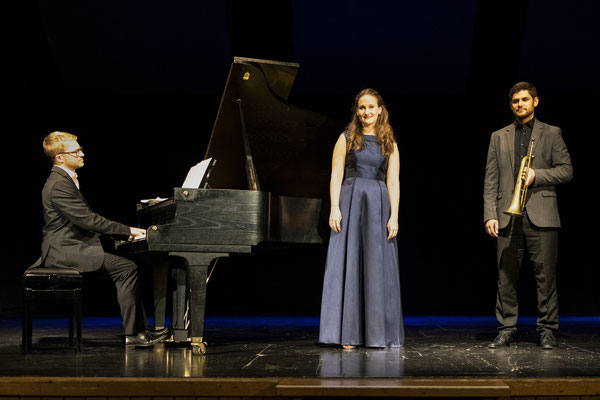 """""""Unser Liebesliederbuch"""" mit Michael Dax (Trompete), Andreas Fröschl (Klavier) und Ferdinand Zisser (Moderation), Foto: Johann Zugschwert"""