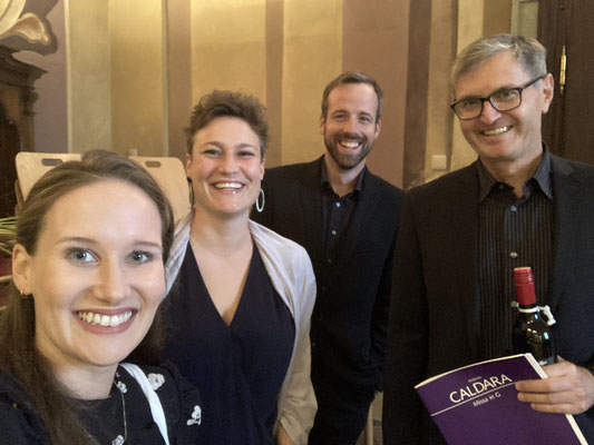 Solistenquartett der CALDARA-Messe in Vorau mit Maria Suntinger, Johannes Chum und Stefan Zenkl, Sept 2020