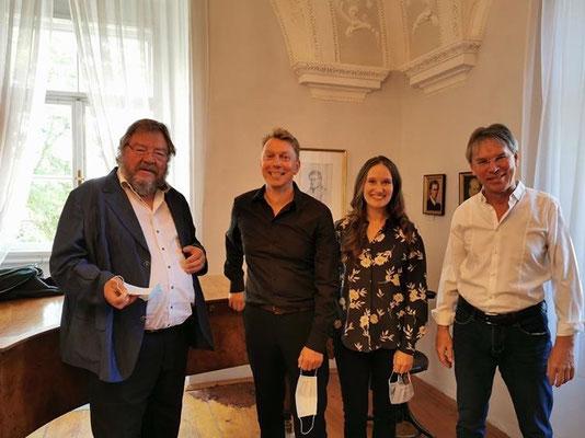 Schubert-Tag Atzenbrugg mit KS Robertus Holl, Erwin Belakowitsch (Bariton) und Matthias Lademann (Liedbegleiter), Sept 2020