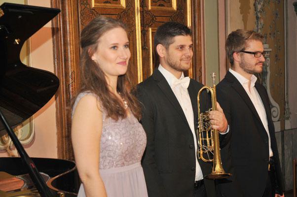 """Unser """"Italienisches Liederbuch"""" mit Michael Dax (Trompete), Andreas Fröschl (Klavier) und Ferdinand Zisser (Moderation), 2017"""