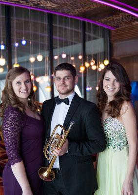 """Trio """"einDREIklang"""" mit Julia Lehner (Orgel) und Michael Dax (Trompete), 2015"""