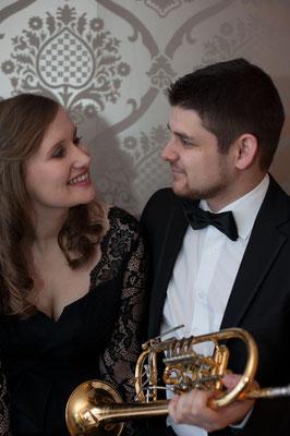 mit meinem Verlobten Michael Dax (Trompete)