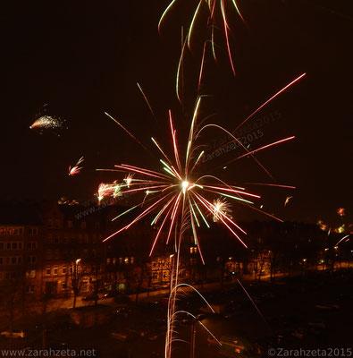 Feuerwerk in Makro zu Silvester
