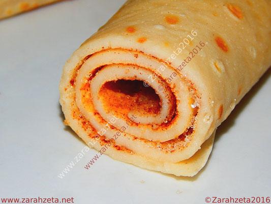 Zarahzetas Fotowand mit Pfannkuchen, Zucker und Zimt